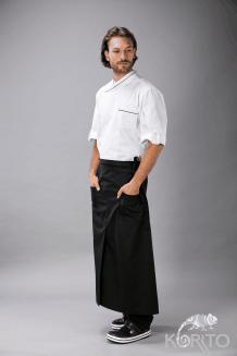 Фартук длинный со шлицей и 2 накладными карманами