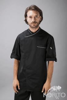 Китель поварской мужской, с рукавом ¾, вставки из сетки, застежка на кнопки