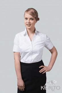 Блузка женская с коротким рукавом с фигурной обтачкой, рельефы из проймы