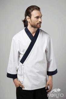 Кимоно поварское мужское с рукавом 3/4 и планкой до талии