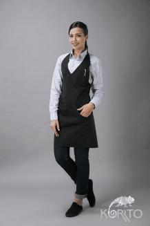 Фартук официанта с грудкой и V-вырезом