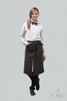 Фартук официанта длинный с разрезом спереди