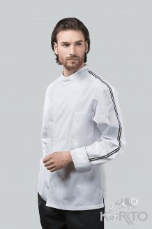 Китель поварской мужской, длинный рукав с французским отворотом, на кнопках