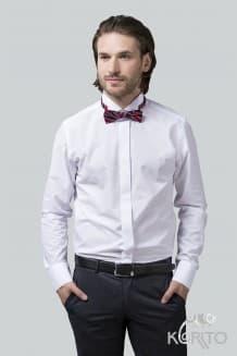 Рубашка мужская классическая, длинный рукав, супатная застежка, воротник