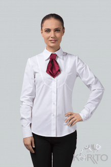 Блузка женская с длинным рукавом и фигурными рельефами