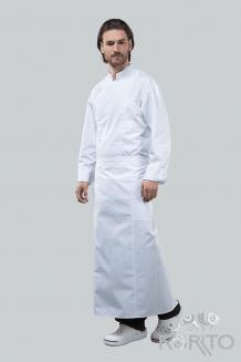 Фартук поварской длинный с рельефами и накладными карманами