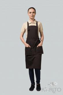 Фартук-трансформер для официанта с отстегивающейся грудкой